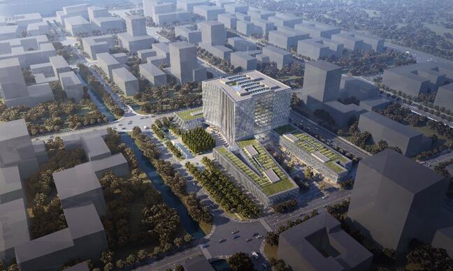 银科金融中心:集智能、科技、节能于一体的国际5A级商务楼